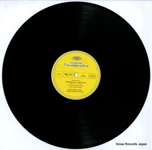 KARAJAN, HERBERT VON brahms; symphonie no.1 MG1184 - disc