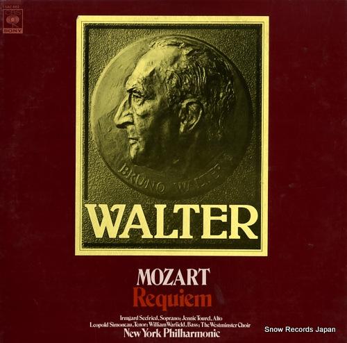 WALTER, BRUNO mozart; requiem 15AC662 - front cover