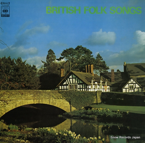 BEAU, CONCERT british folk songs FCLA-224 - front cover