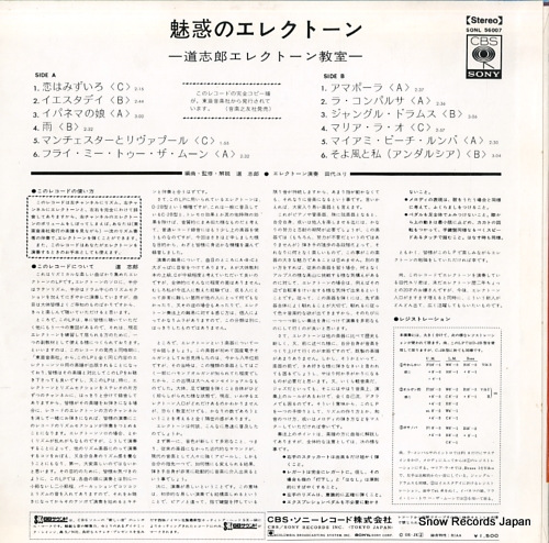 MICHI, SHIRO let's learn electone SONL56007 - back cover