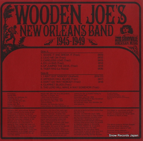 WOODEN JOE'S NEW ORLEANS BAND 1945-1949 670204 - back cover