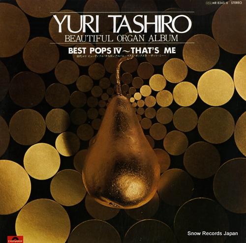 TASHIRO, YURI yuri tashiro beautiful organ album / best pops iv that's me MR8345/6 - front cover