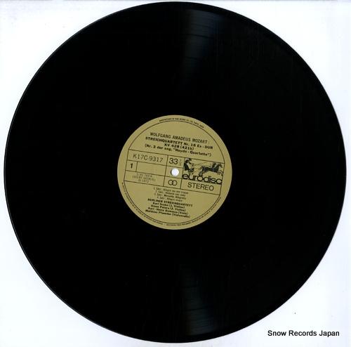 BERLINER STREICHQUARTETT mozart; streichquartett nr.16 & 17 K17C-9317 - disc