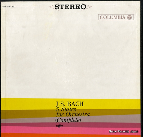 PAILLARD, JEAN-FRANCOIS bach; 5 suites for orchestra (complete) CSS-29-30 - front cover