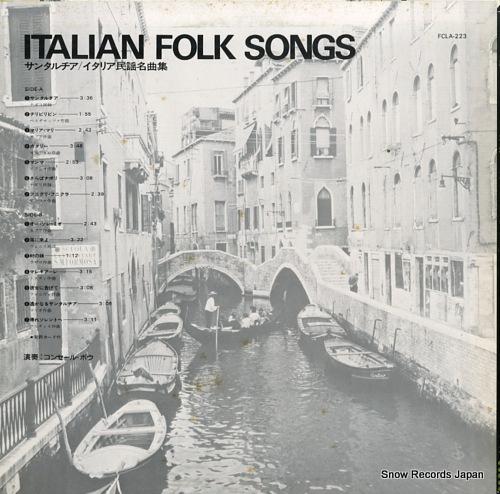 BEAU, CONCERT italian folk songs FCLA-223 - back cover