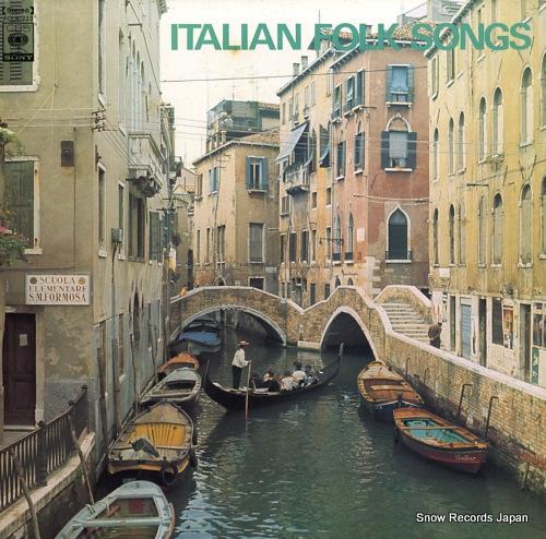 BEAU, CONCERT italian folk songs FCLA-223 - front cover