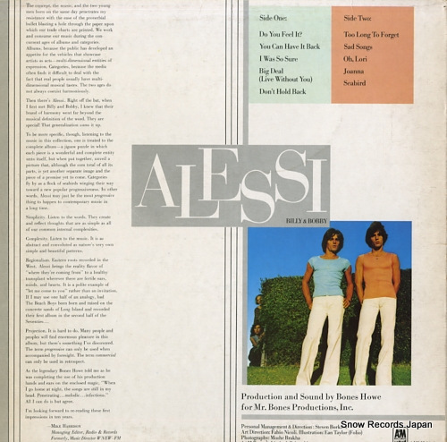 ALESSI BROTHERS, THE alessi AMLH64608 - back cover