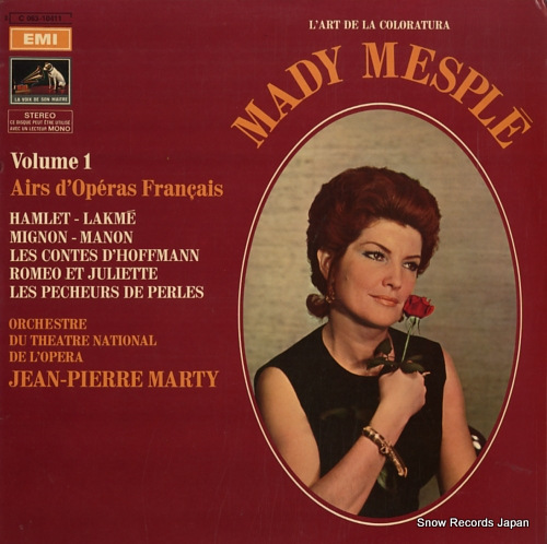 MESPLE, MADY volume 1 airs d'operas francais 2C063-10411 - front cover