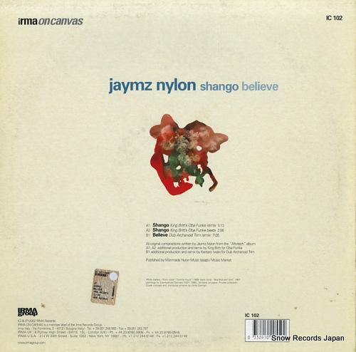 NYLON, JAYMZ shango / believe IC102 - back cover