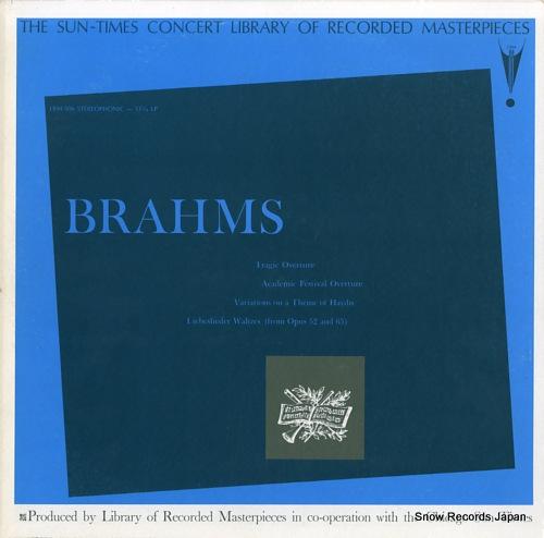 GOBERMAN, MAX brahms LRM506 - front cover