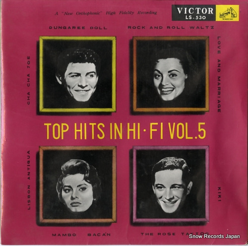 V/A top hits in high fidelity vol.5 LS-530 - front cover