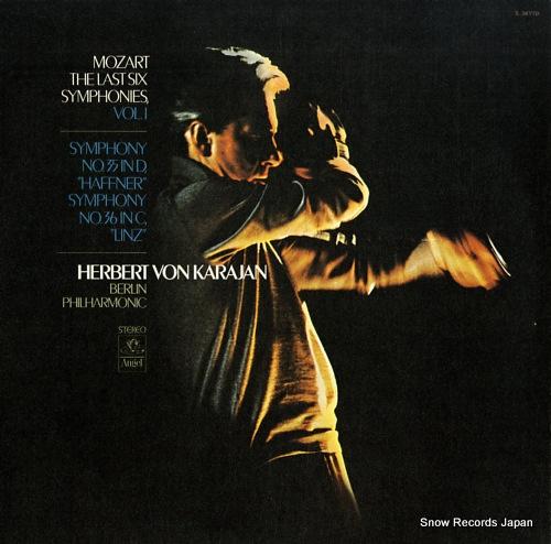 KARAJAN, HERBERT VON mozart; the last symphonies, vol.1 S-36770 - front cover