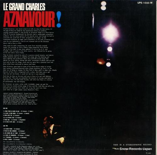 AZNAVOUR, CHARLES le grand charles aznavour! charles aznavour UPS-1033-M - back cover