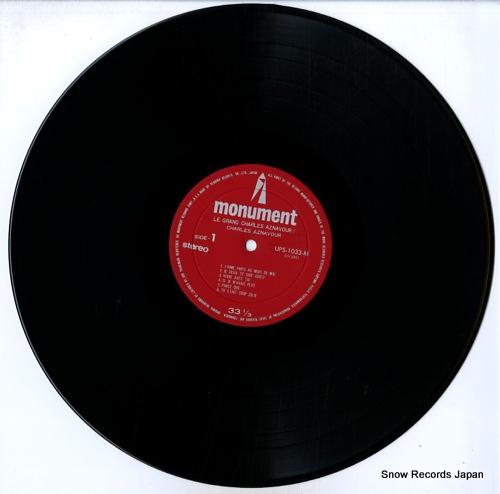 AZNAVOUR, CHARLES le grand charles aznavour! charles aznavour UPS-1033-M - disc