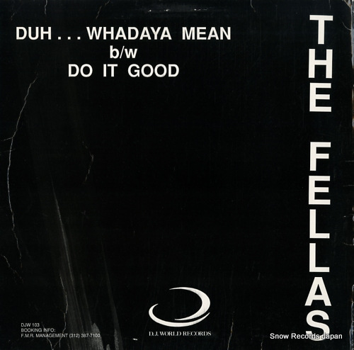 PINKY, THE duh...whadaya mean / do it good DJW103 - back cover