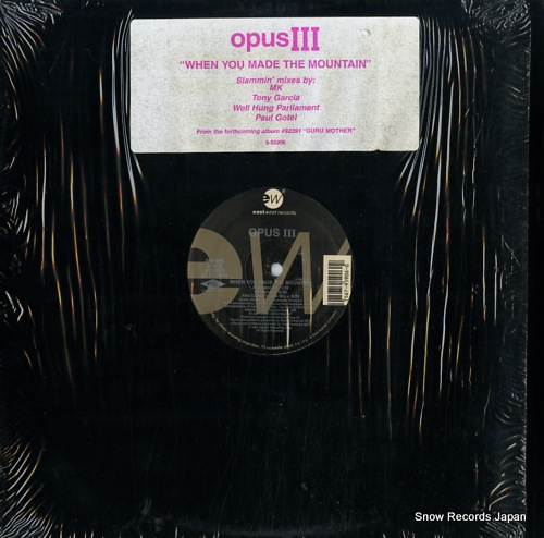 OPUS III when you made the mountain 0-95906 - front cover