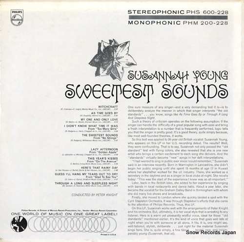 YOUNG, SUSANNAH the sweetest sounds PHM200-228 - back cover