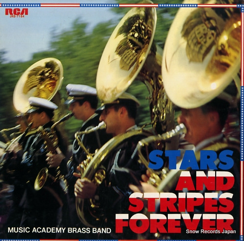 MUSIC ACADEMY BRASS BAND stars and stripes forever JRS-7184 - front cover