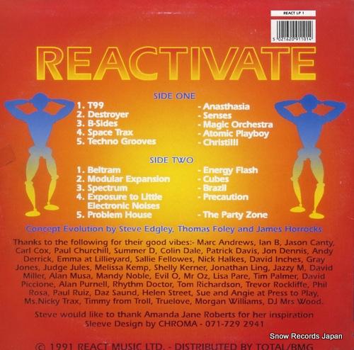 V/A reactivate volume #1 REACTLP1 - back cover