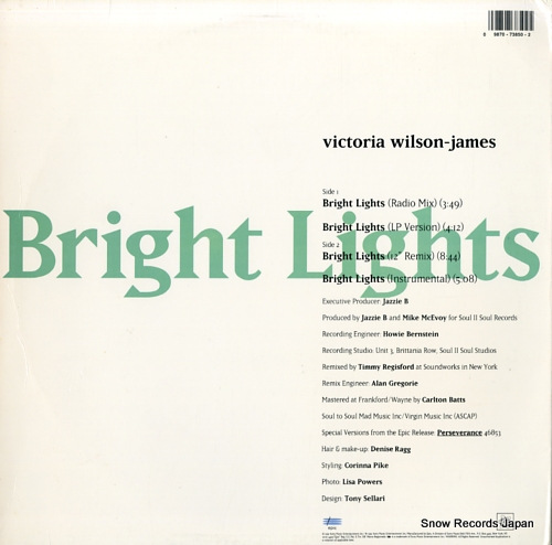 WILSON-JAMES, VICTORIA bright lights 49-73850 - back cover