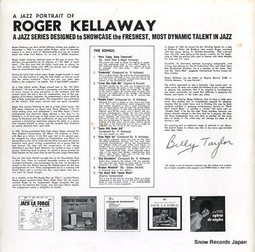 KELLAWAY, ROGER a jazz portrait of roger kellaway (2) - back cover