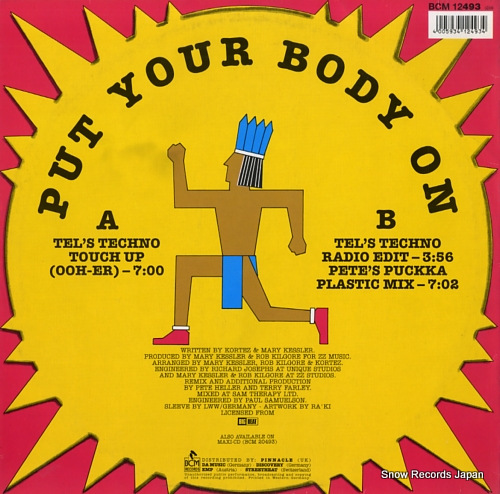 KORTEZ put your body on BCM12493 - back cover