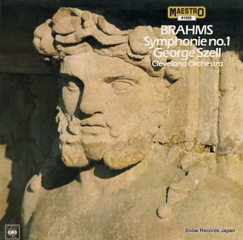 SZELL, GEORGE johannes brahms; symphonie no.1 61922 - front cover