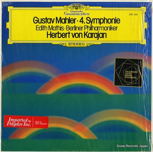 KARAJAN, HERBERT VON mahler; 4.symphonie 2531205 - front cover