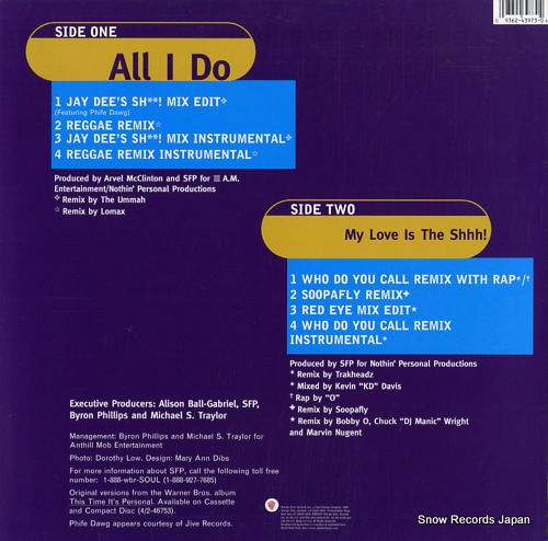 SOMETHIN' FOR THE PEOPLE all i do / my love is the shhh! 0-43973 - back cover