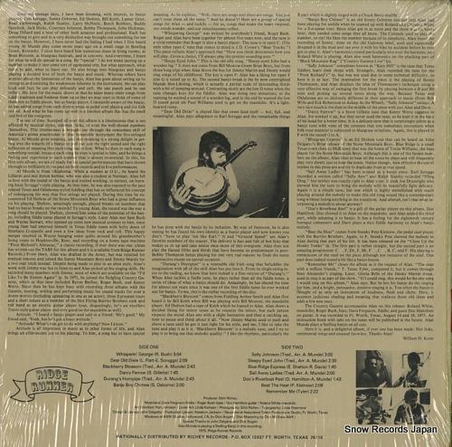 MUNDE, ALAN alan munde's banjo sandwich RRR0001 - back cover