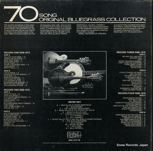 V/A 70 song original bluegrass collection REB-1473-76 - back cover