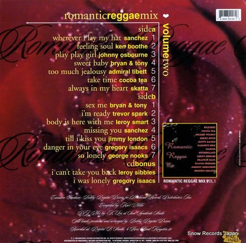 V/A romantic reggae mix volume 2 BWLP0018 - back cover