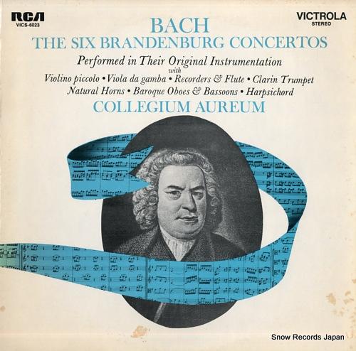 AUREUM, COLLEGIUM bach; the six brandenburg concertos VICS-6023 - front cover