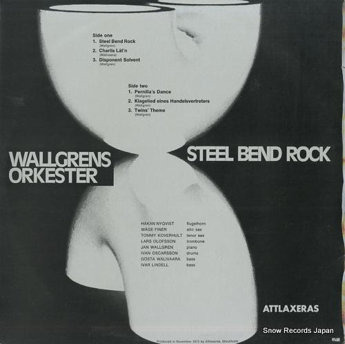 WALLGRENS ORKESTER steel bend rock ALPS-101 - back cover