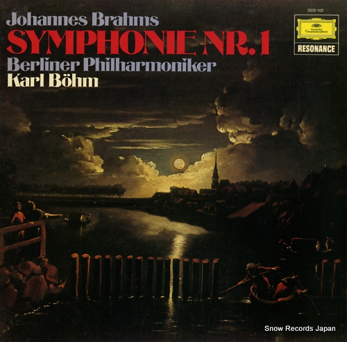 BOHM, KARL brahms; symphonie nr.1 2535102 - front cover