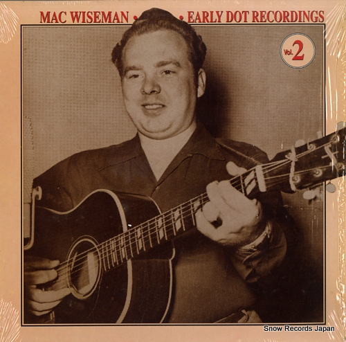 WISEMAN, MAC early dot recordings vol.2 CCS109 - front cover