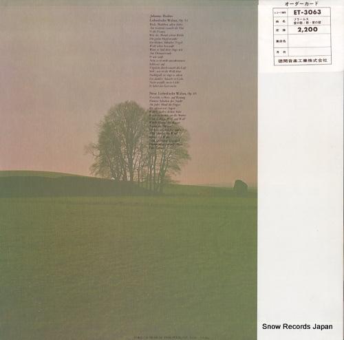 V/A johannes brahms; neue liebeslieder, walzer op.65 ET-3063 - back cover