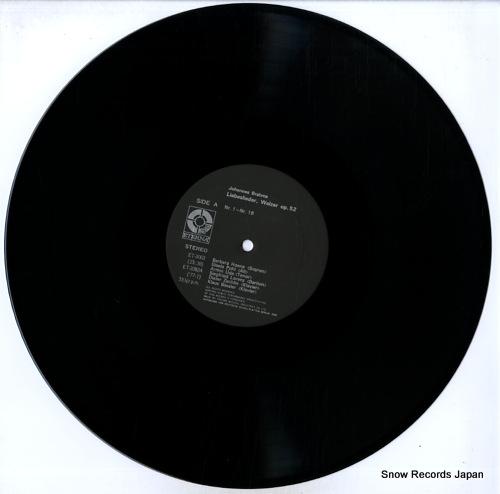 V/A johannes brahms; neue liebeslieder, walzer op.65 ET-3063 - disc