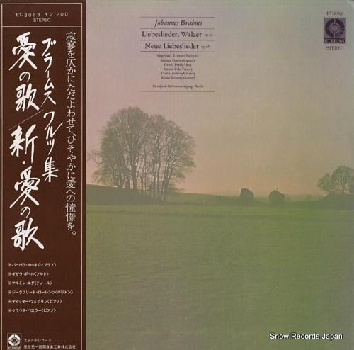 V/A johannes brahms; neue liebeslieder, walzer op.65 ET-3063 - front cover