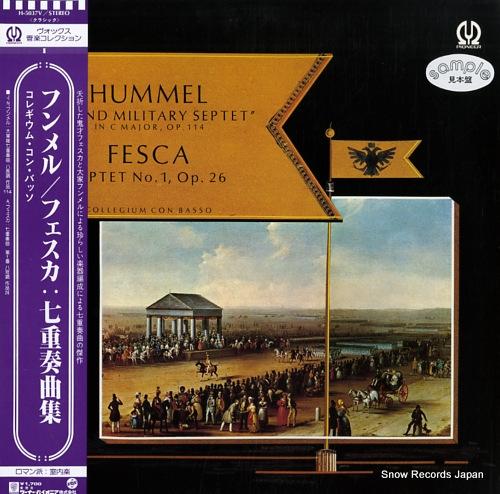 CON BASSO, COLLEGIUM hummel; grand military septet / fesca; septet no.a, op.26 H-5037V - front cover