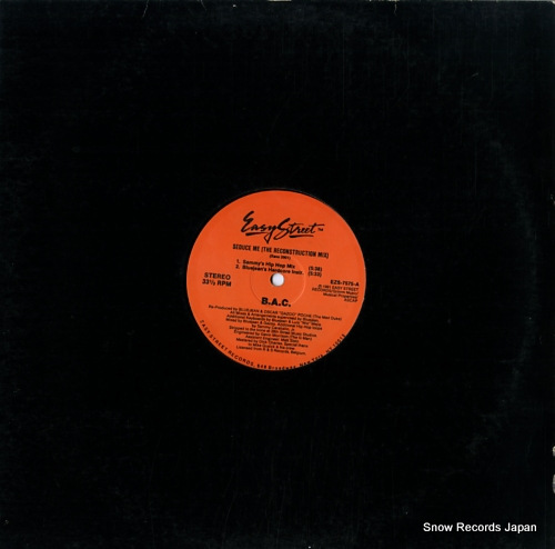B.A.C. seduce me (the reconstruction mix) EZS-7575 - front cover