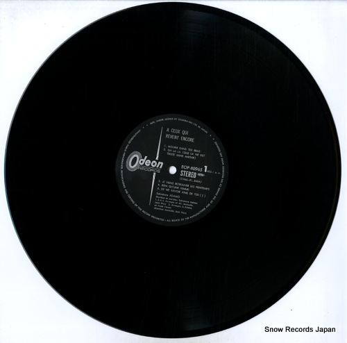 ADAMO a ceux qui revent encore EOP-80965 - disc