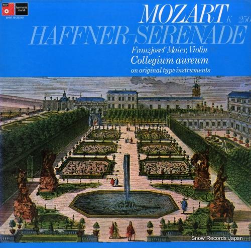MAIER, FRANZJOSEF mozart; haffner serenade in d major k250 BHM19-29310 - front cover