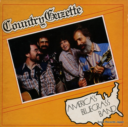 COUNTRY GAZETTE america's bluegrass band FF-295 - front cover