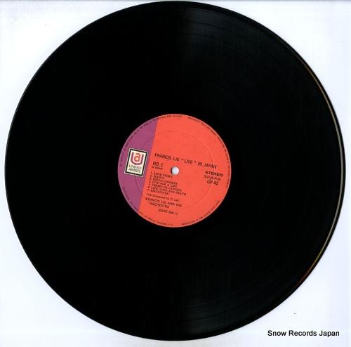 LAI, FRANCIS francis lai live in japan GP42 - disc