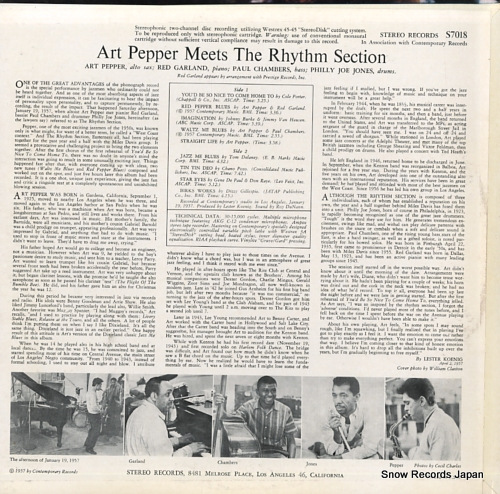 PEPPER, ART meets the rhythm section S7018 - back cover