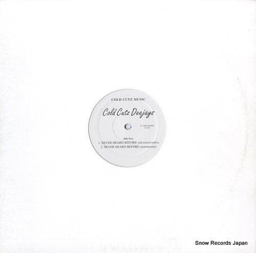 COLD CUTZ DEEJAYS hip-hop vs. rap megamix CC1001 - back cover