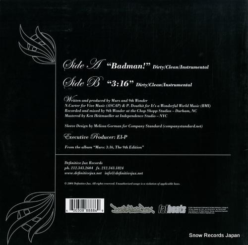 MURS badman DJX82 - back cover
