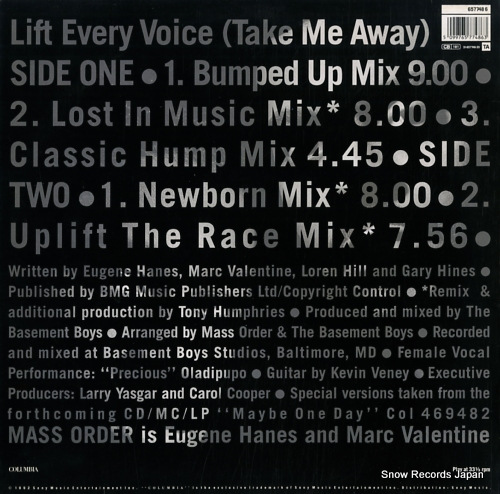 MASS ORDER life every voice (take me away) 6577486 - back cover