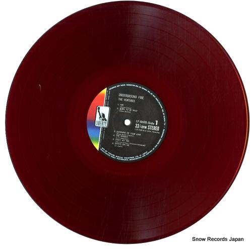 VENTURES, THE underground fire LP-8600 - disc